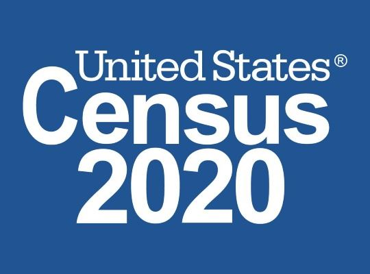 U.S. Census Logo on Dark Blue Background