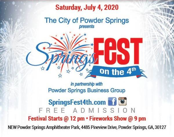 Save the Date SpringsFest on the 4th graphic.