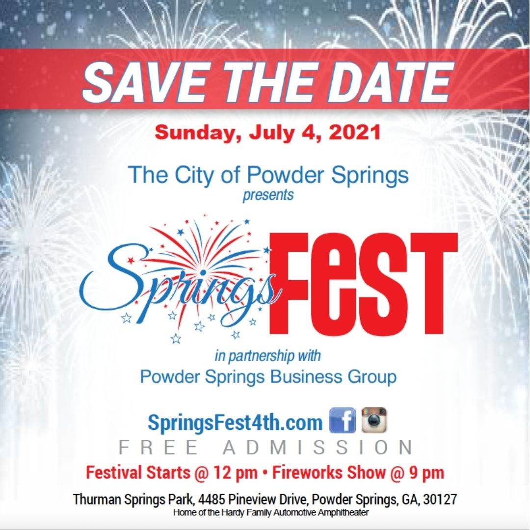 Springsfest on the 4th 2021 Graphic